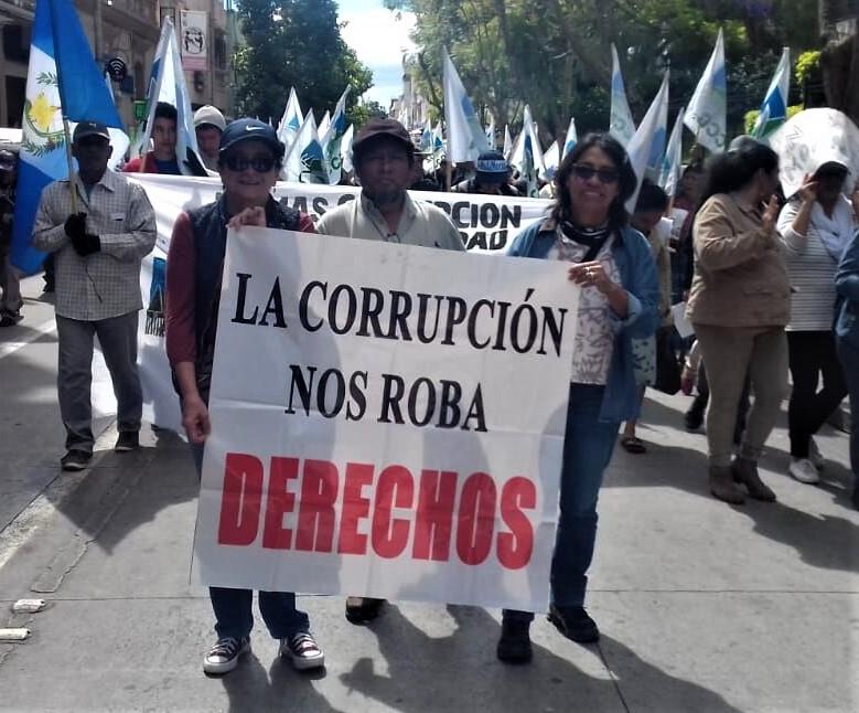 Demonstration in Guatemala Stadt, Januar 2019