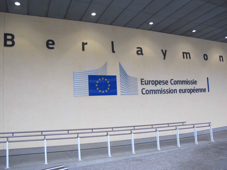 Eingang zum Gebäude der EU-Kommission in Brüssel