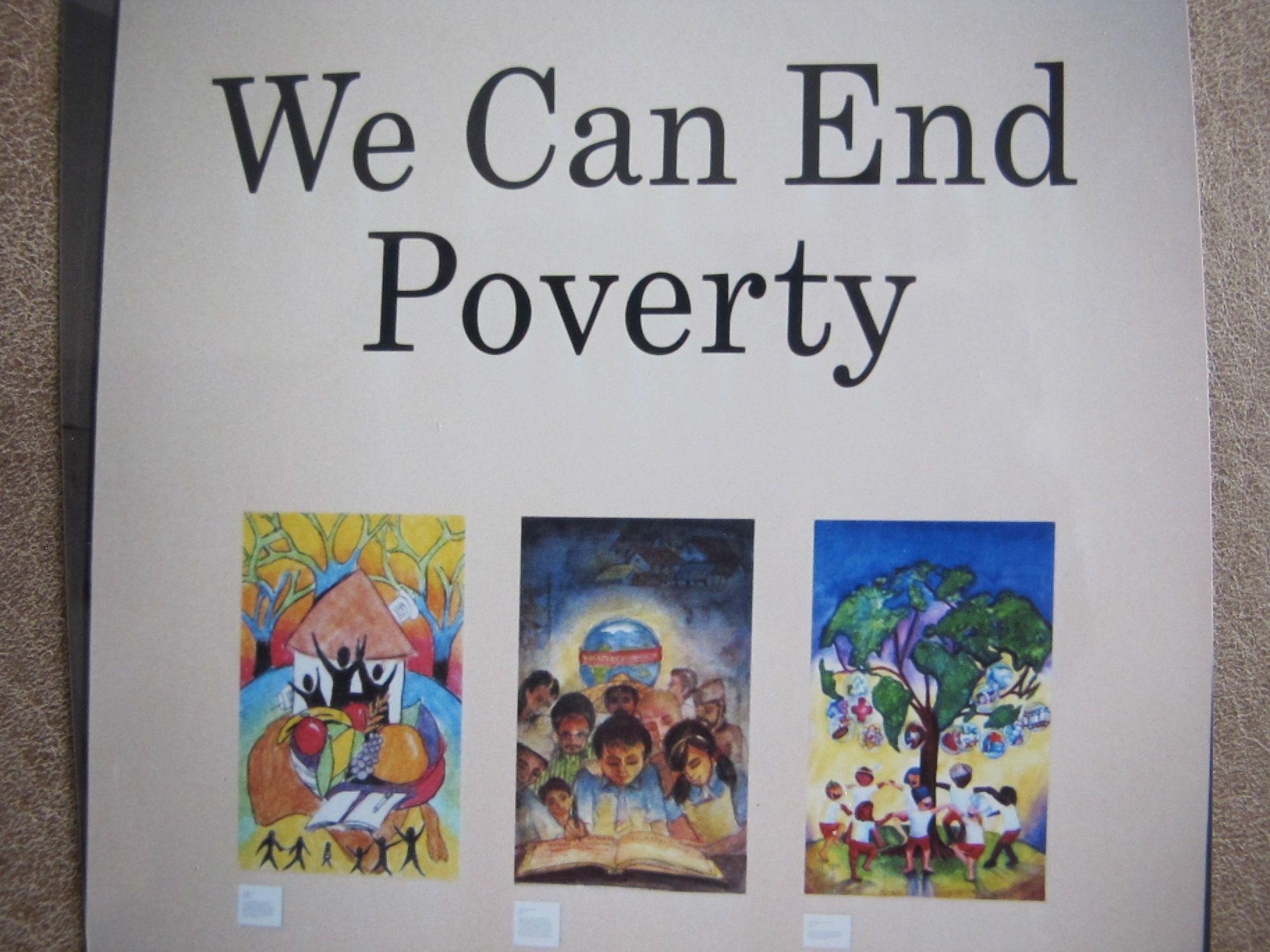 Plakat Im UN-Gebäude in New York