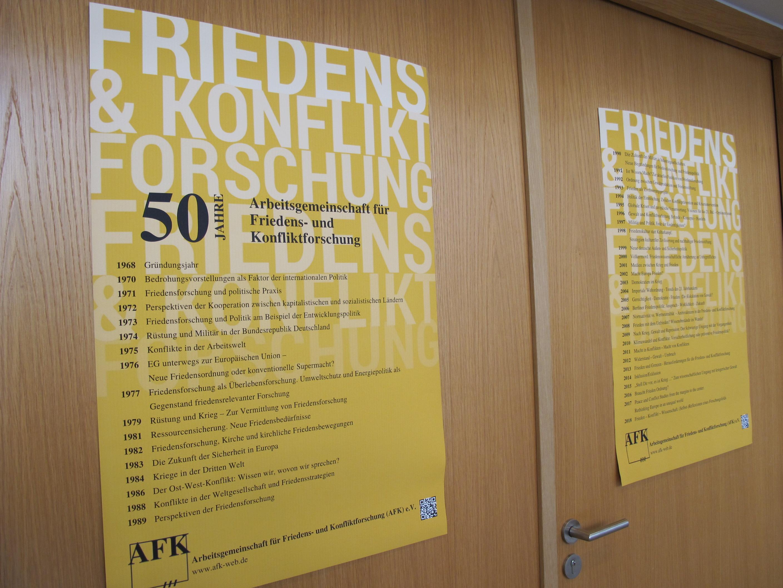 Jubiläum der AFK - Liste der 50 Jahrestagungen 1968-2018